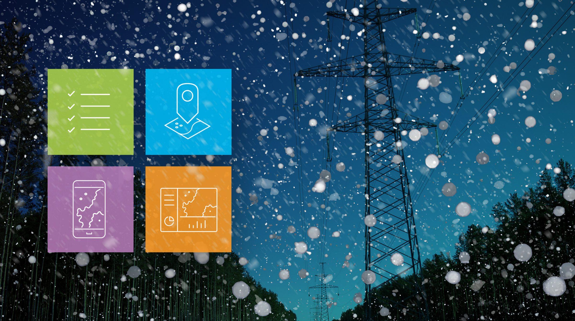 Driftstörning för elnät vid snöstorm