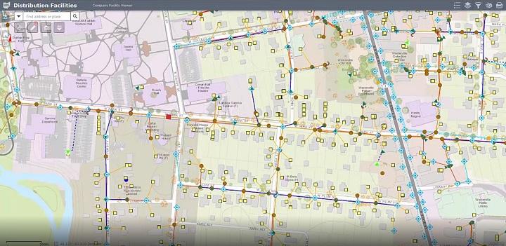 Visualisering av nätinfrastruktur i app