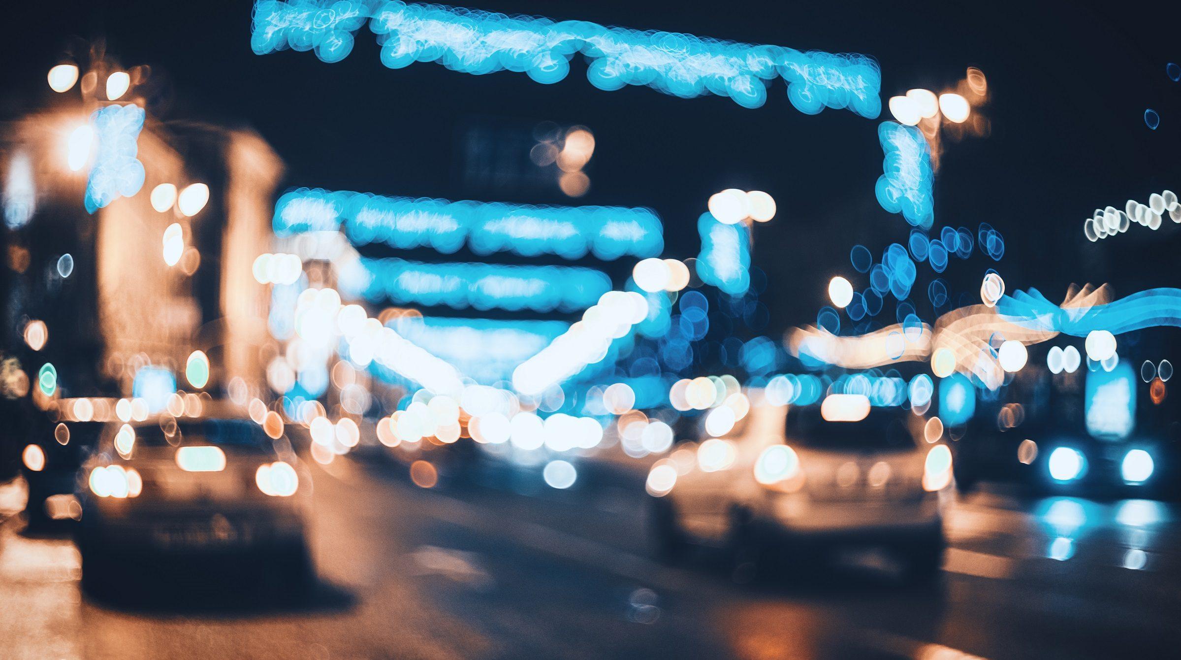 Stadstrafik nattetid