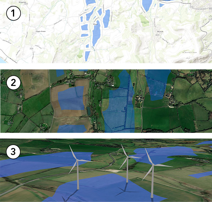 Visualiseringar etablering vindkraft